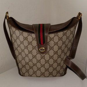 Vintage Gucci GG Bucket Boston Bag